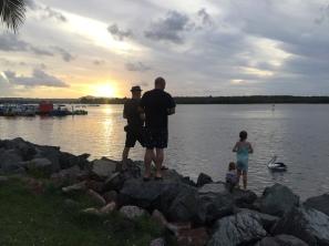 Wir sind sooo gerne am Abend am Noosa River...