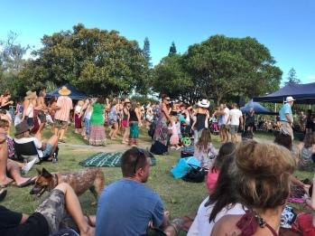 Peregian Originals - einmal im Monat gibt es hier Konzerte im Park