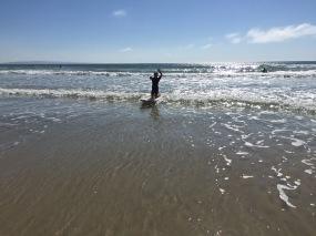 Tanzend mit den Wellen reiten.